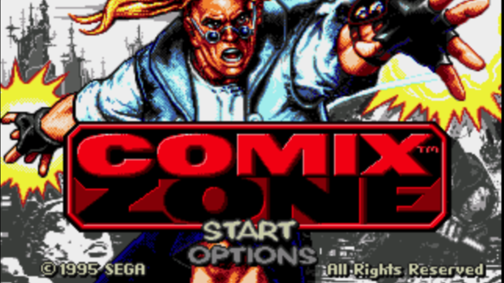 comix zone title screen